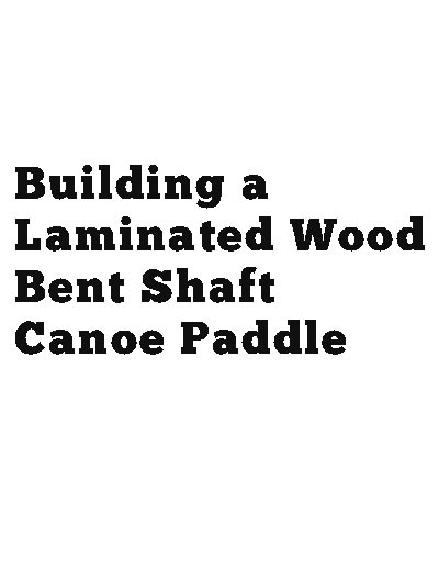 picture of the bent shaft canoe paddle book cover